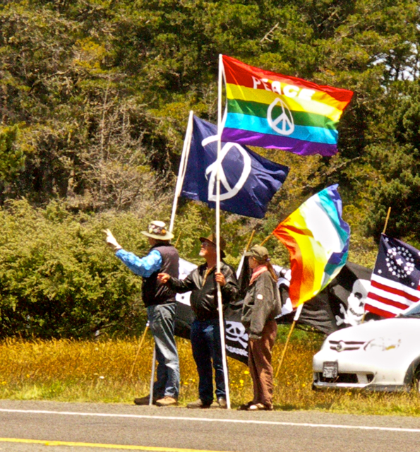 Peace Demonstration Along Highway 1