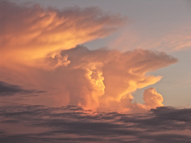 Roaring Clouds at Sunset