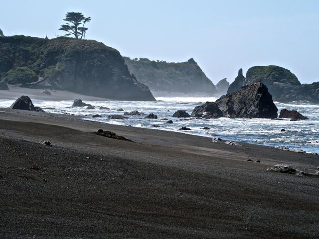 My first black sand beach