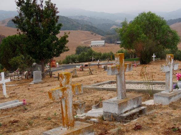 Cemetery Hill looking down on rich farmland