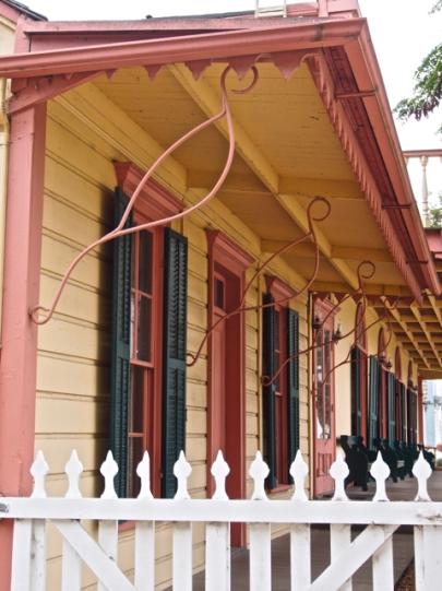 Ornate Ironwork Struts