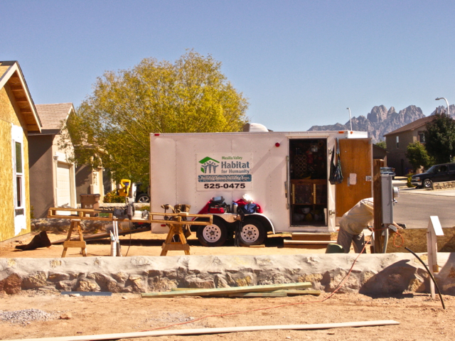 Our tool shed with the Organ Mountains in the background
