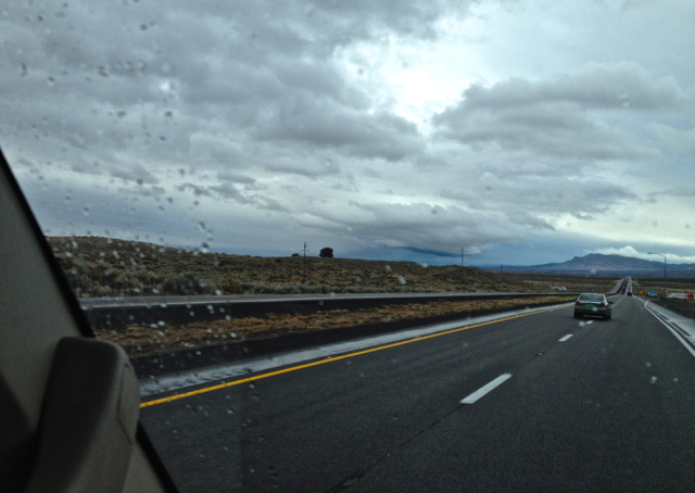 Heading down I-25 with a Storm Front on my Birthday