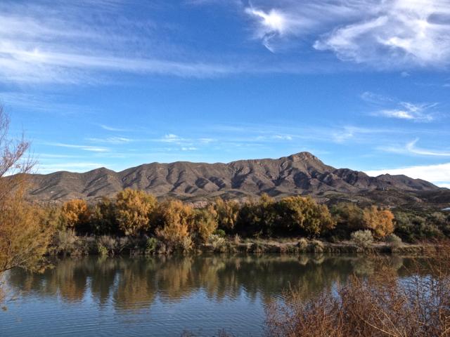 A walk along the Rio Grande river on a beautiful autumn day.
