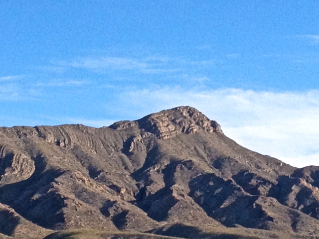 Turtleback Mountain from the town of Truth or Consequences