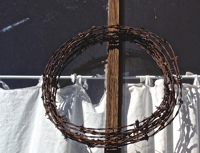 My Favorite:  Barbed Wire Wreath