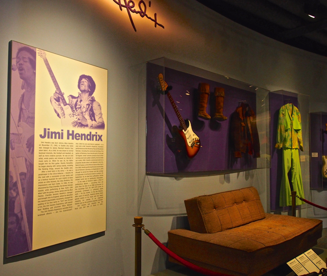 The couch in his parents' home where Jimi played his music
