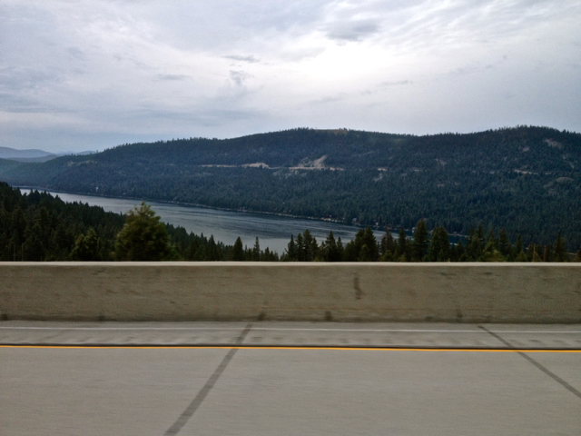 Donner Lake in the Sierra Nevadas