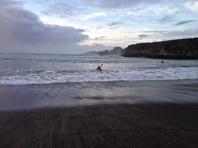 Sea Kayaker at Dusk