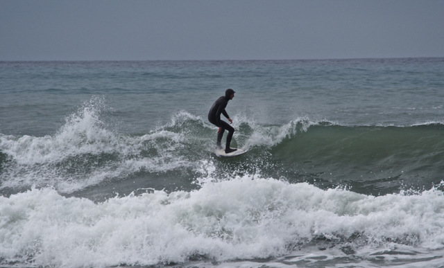 Catching a wave at Westport