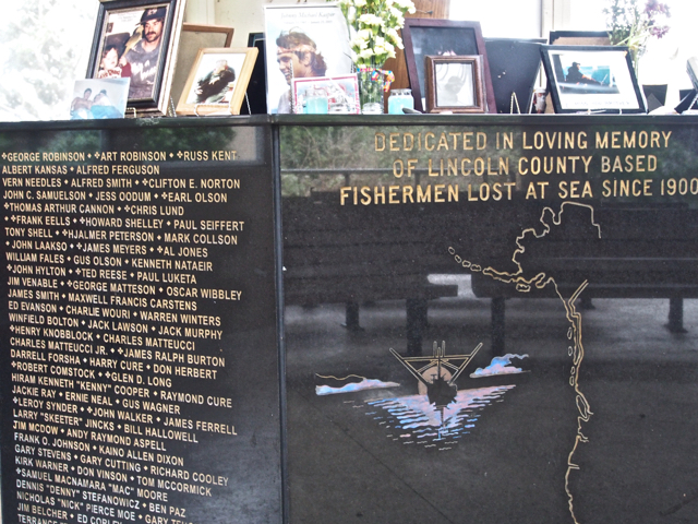 Memorial to fishermen lost at sea