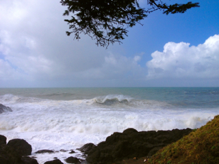 Stopped at Rocky Creek to watch the frenzied waves