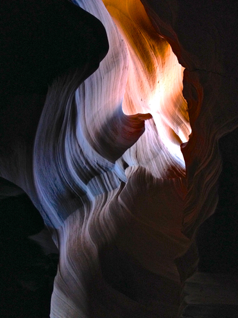 Simply mesmerizing ~ the play of light on the canyon walls